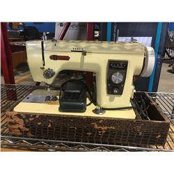 IMPERIAL PORTABLE SEWING MACHINE IN CASE- WORKS