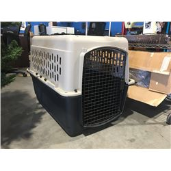 """GRREAT CHOICE LARGE DOG CRATE (APPROX 35"""" X 24"""" X 26"""", DOOR OPENING  21"""" X 15.5"""""""