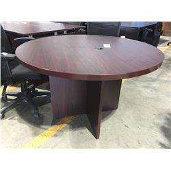 """47.25"""" DIAMETER X 30""""H OFFICE TABLE ON WOODEN BASE"""