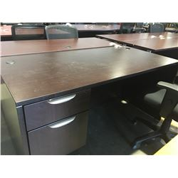 "OFFICE DESK WITH 2 DRAWERS (APPROX 5' X 30"" X 29.5"")"