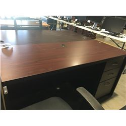 "OFFICE DESK WITH 3 DRAWERS (APPROX 59"" X 23.5"" X 30"")"