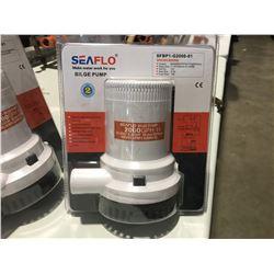 SEAFLO BILGE PUMP 2000GPH 12-VOLT, 8.5AMP, 29MM ID HOSE