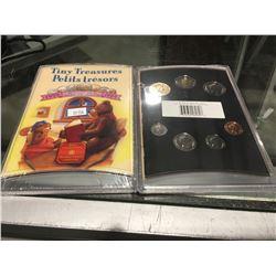 "TINY TREASURES ROYAL CANADIAN MINT ""1999"" UNCIRCULATED COIN SET X 2"