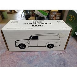 1950 ERTL PANEL TRUCK BANK (HAS KEY)