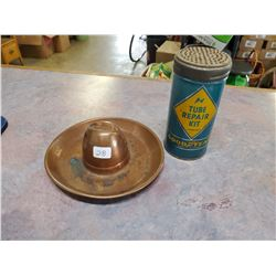 GOODYEAR TUBE REPAIR TIN & ASHTRAY