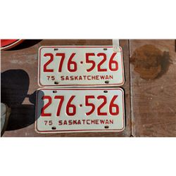 TWO 1975 LICENSE PLATES