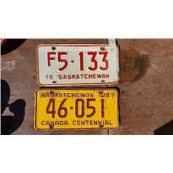 1967 LICENSE PLATE AND 1975 FARM LICENSE PLATE