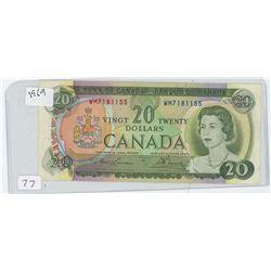 1969 CANADIAN 20 DOLLAR BILL