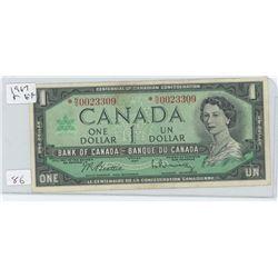 1967 CANADIAN 1 DOLLAR BILL