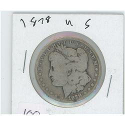 1878 AMERICAN SILVER DOLLAR