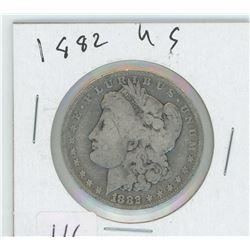 1882 AMERICAN MORGAN SILVER DOLLAR