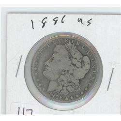 1886 AMERICAN MORGAN SILVER DOLLAR