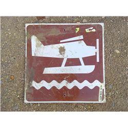 FLOAT PLANE LANDING SIGN