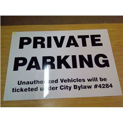 PRIVATE PARKING SIGN PLASTIC