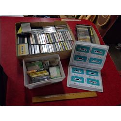 LARGE LOT OF CASSETTE TAPES