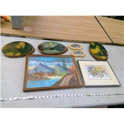 PAINTING OF SCENERY AND WOOD ART