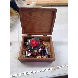 BOX OF COSTUME JEWELRY IN SCOTTY DOG BOX
