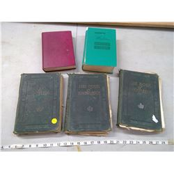 3 VOLUMES OF THE BOOK OF KNOWLEDGE C/W THE MODERN ENCYCLOPEDIA OF COOKING