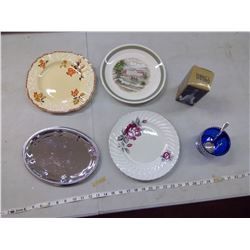 PLATES, CRYSTAL BELL, ETC.