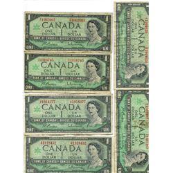CANADA 1867-1967 STACK OF $1 BILLS (10)