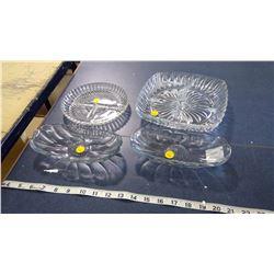 PRESSED GLASS SNACK TRAYS