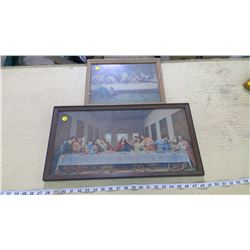 2X FRAMED LAST SUPPER PICTURES