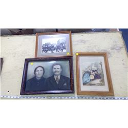 3X FRAMED PICTURES
