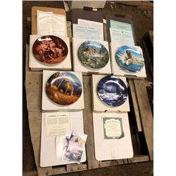 5 COLLECTOR ART PLATES