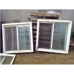 "2 WINDOWS W/ SLIDERS (42""X42"")"