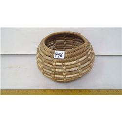 1930 NATIVE BASKET COIL WRAPPED - DIAMETER 8