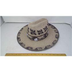 1974 PERU WOVEN LLAMA WOOL WESTERN STETSON HAT