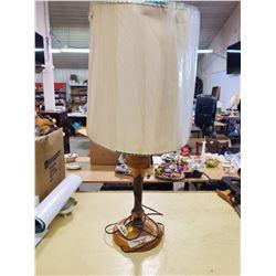 LAMINATED WOOD TURNED LAMP