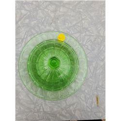 GREEN DEPRESSION GLASS DISH