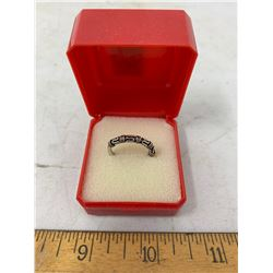 SILVER COLOUR RING - SIZE 5.5