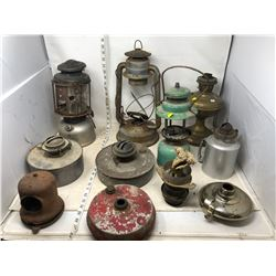 ASSORTMENT OF LAMP AND LANTERN PARTS