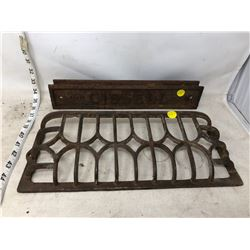 WALL GRATE AND IRON ADV. PLATE