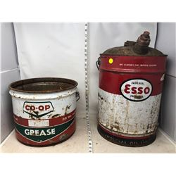 ESSO AND CO-OP OIL PAILS