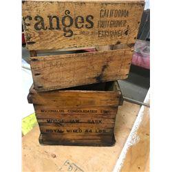 2 WOODEN CONFECTION BOXES