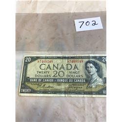 20 DOLLAR BILL - 1954