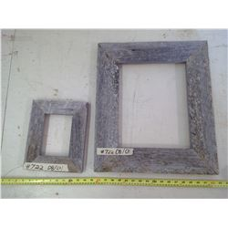 """2 WOODEN PICTURE FRAMES FOR 5X7"""" AND 11X14"""" (20""""X17"""" AND 10 1/2"""" X 8 1/2"""")"""
