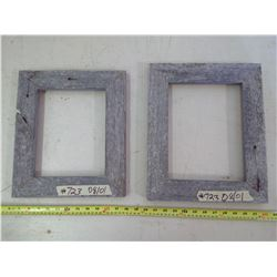 """2 WOODEN PICTURE FRAMES FOR 8 1/2 X 11"""" AND 8X10"""" (14 1/2""""X12"""" AND 11 1/2"""" X 13 1/2"""")"""