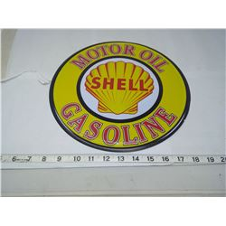 SHELL 12 INCH TIN SIGN
