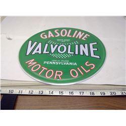 VALVOLINE 12 INCH TIN SIGN