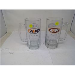 2 A & W QUART SIZE MUGS