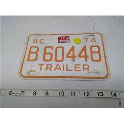B.C. TRAILER PLATE