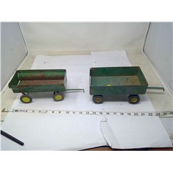 2 STEEL WAGON TRAILERS