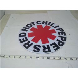 12 INCH RED HOT CHILI PEPPERS TIN SIGN