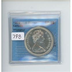 1972 ONE DOLLAR SP-65 CCCS