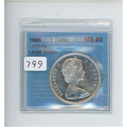 1966 ONE DOLLAR MS-60 CCCS