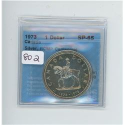 1973 ONE DOLLAR SP-65 CCCS